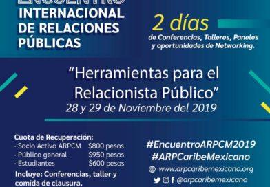 XX Encuentro Internacional de Relaciones Públicas en Cancún.