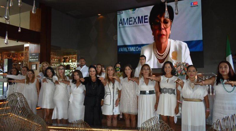 AMEXME, la Asociación de Mujeres más importante de México en su Capítulo Cancún, cambia de estafeta