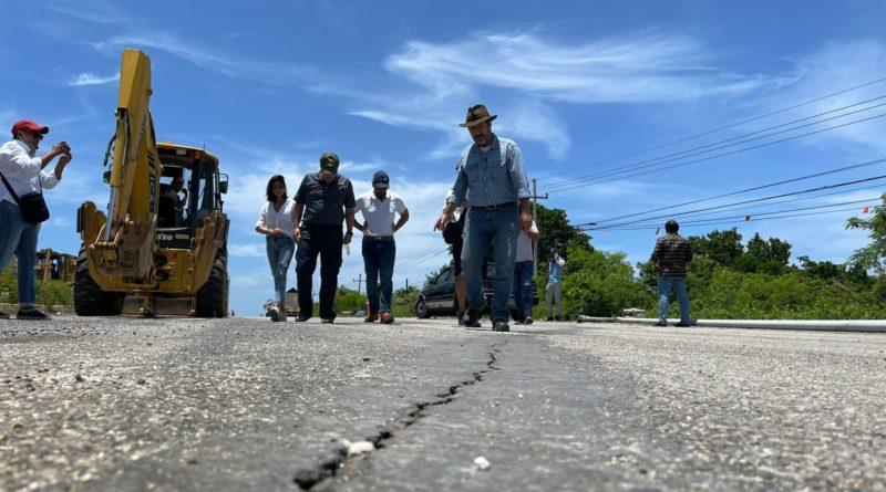 Fonatur supervisa obra de desvío provisional y avance de estudios geofísicos en Carretera Federal 307